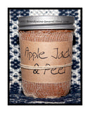 Apple Jack and Peel half pint candle jar by Black Crow