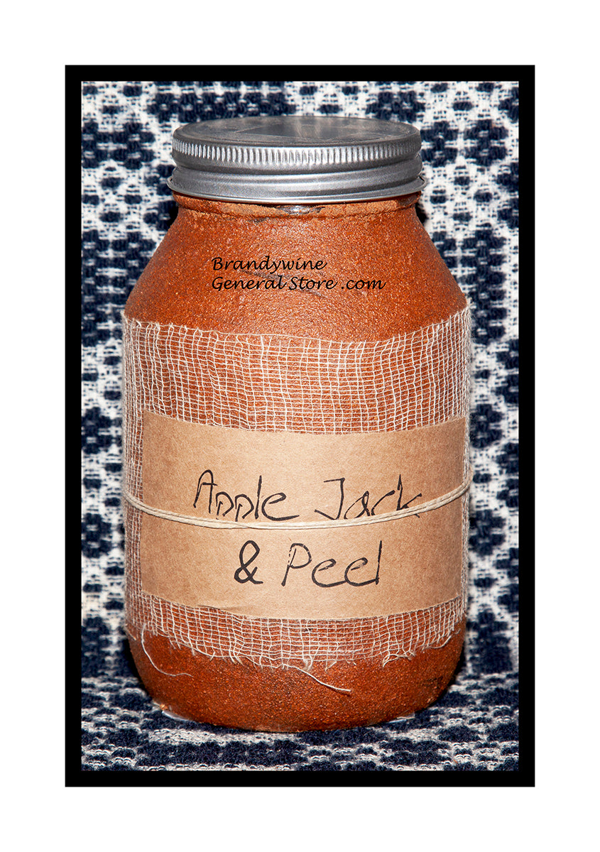 Apple Jack and Peel quart candle jar by Black Crow