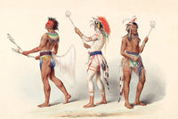 A fine art print of Ball Players painted by western artist George Catlin in 1861