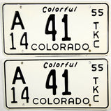 1955 Colorado City Truck License Plates