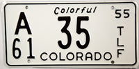 1955 Colorado Farm Trailer License Plate