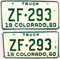 1960 Colorado Truck License Plates