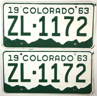 1963 Colorado License Plates