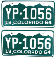 1964 Colorado License Plates