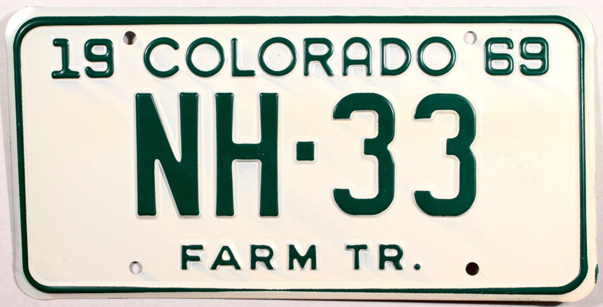 1969 Colorado Farm Tractor License Plates