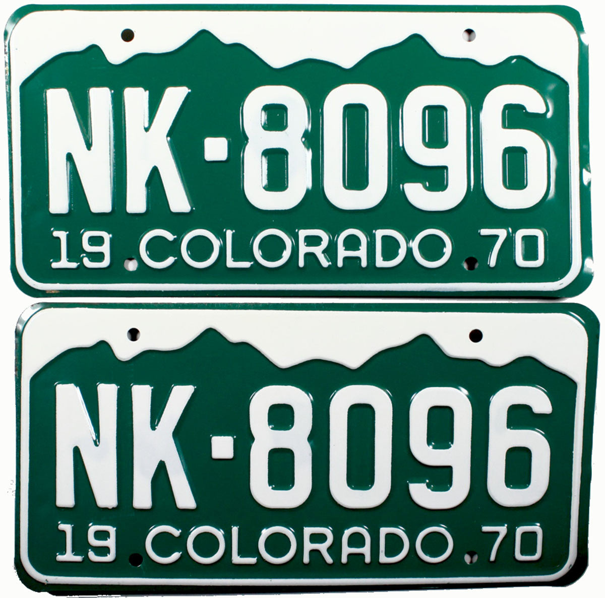 1970 Colorado License Plates