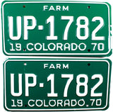 1970 Colorado Farm License Plates