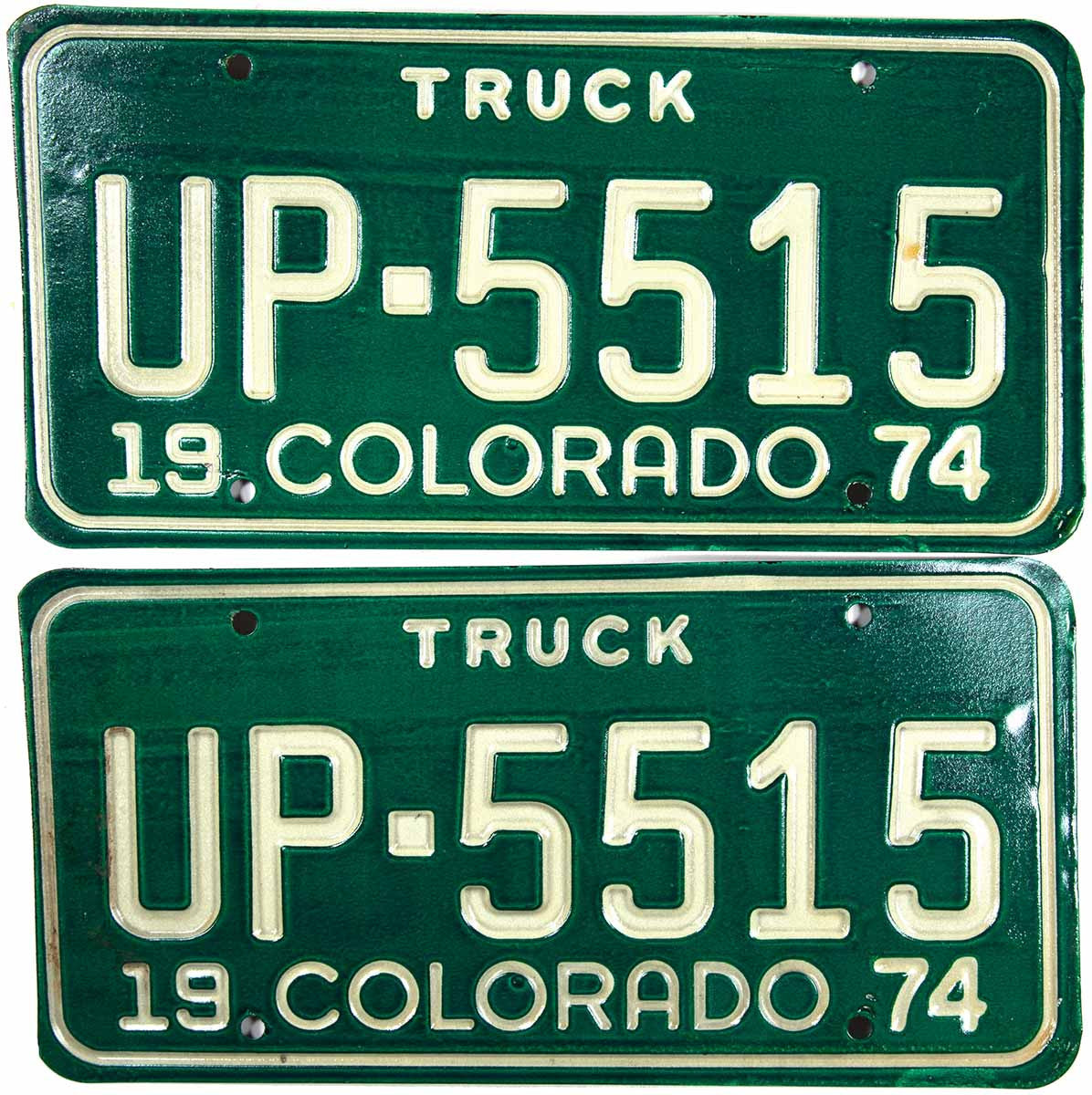 1974 Colorado Truck License Plates