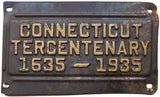 1935 Connecticut Tercentenary License Plates