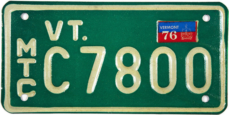 1976 Vermont Motorcycle License Plate