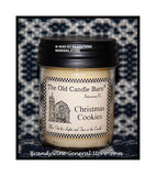 Christmas Cookies scented primitive half pint candle jar made by The Old Candle Barn