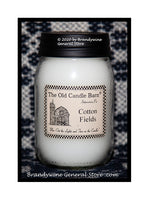 Cotton Fields scented primitive pint candle jar made by The Old Candle Barn