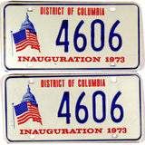 1973 District of Columbia Inaugural License Plates