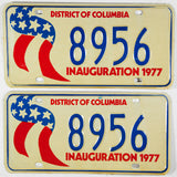 1977 Washington DC Inaugural Plates for Jimmy Carter