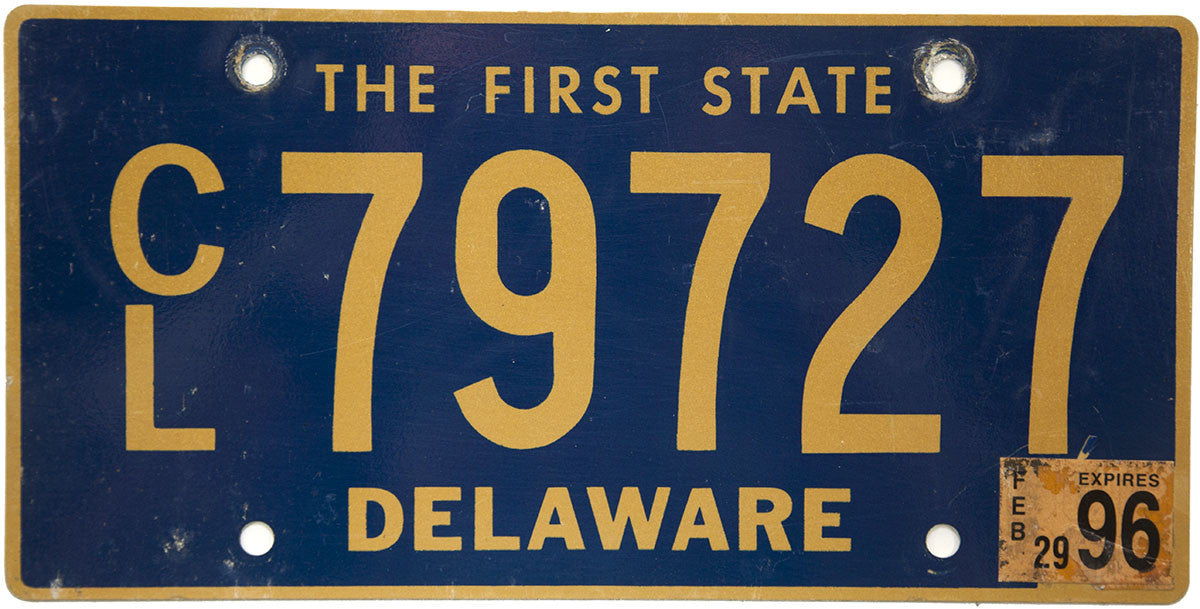 1996 delaware commercial license plate | brandywine general store