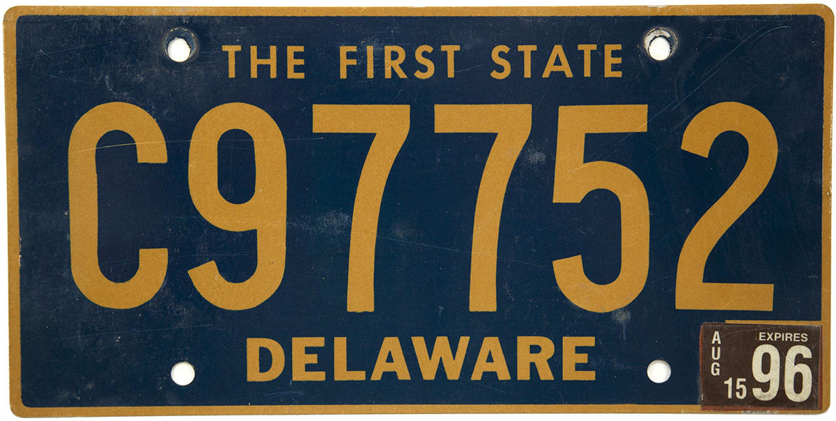 1996 Delaware Commercial License Plate C prefix