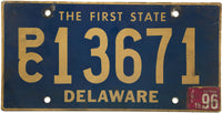 1996 Delaware Station Wagon License Plate