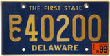 1999 Delaware Station Wagon License Plate