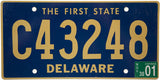 2001 Delaware Commercial License Plate