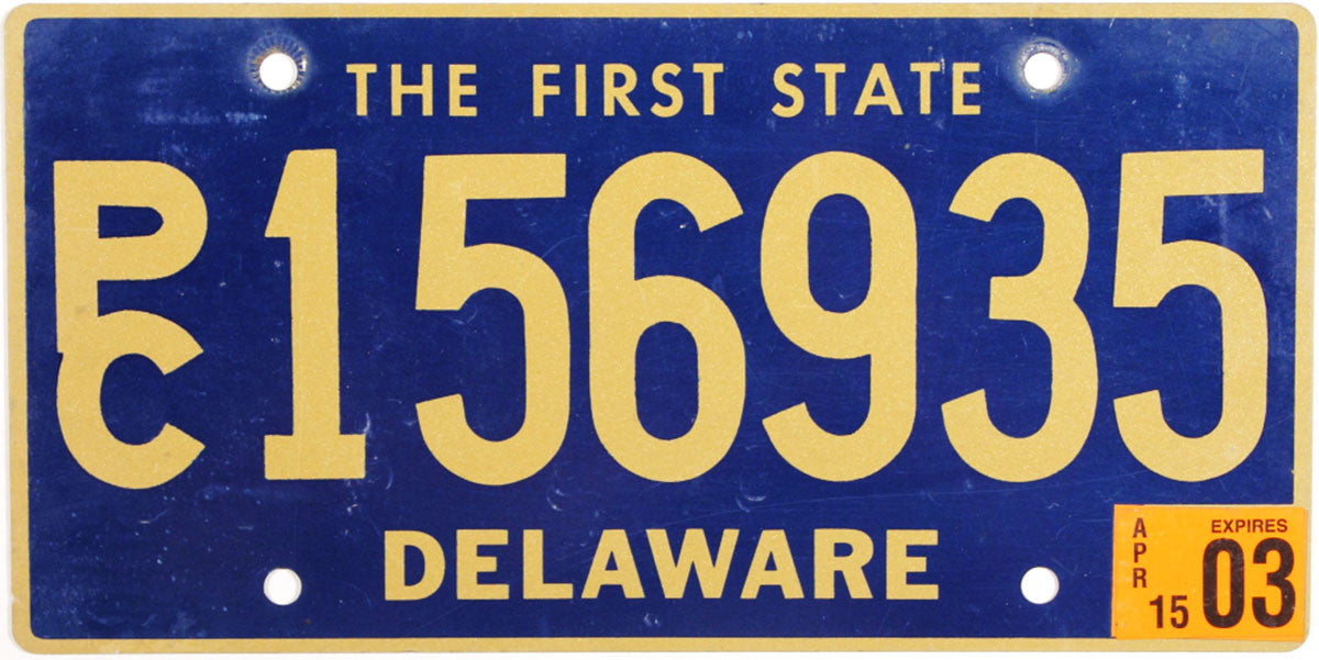 2003 Delaware Station Wagon License Plate