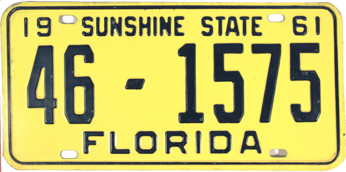 1961 Florida License Plate