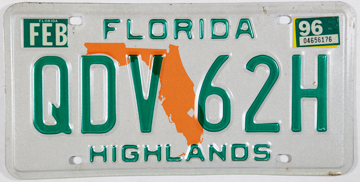 1996 Florida License Plate
