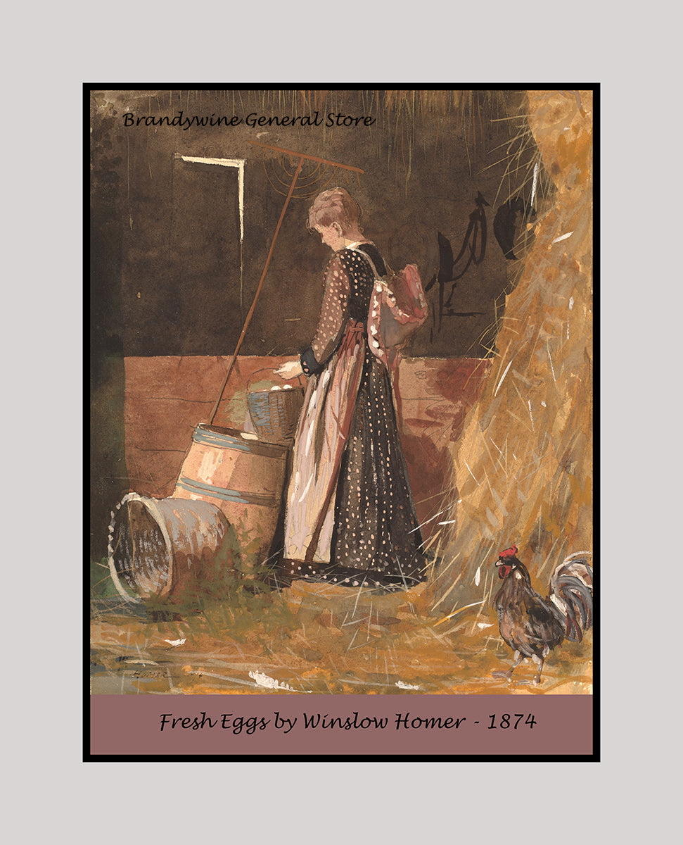 A fine art print of Fresh Eggs by Winslow Homer