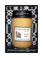 Fresh Pear primitive pint candle jar made by The Old Candle Barn