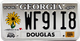 2006 Georgia Wildflowers License Plate