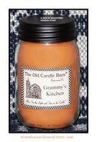Grammy's Kitchen primitive pint candle jar made by The Old Candle Barn