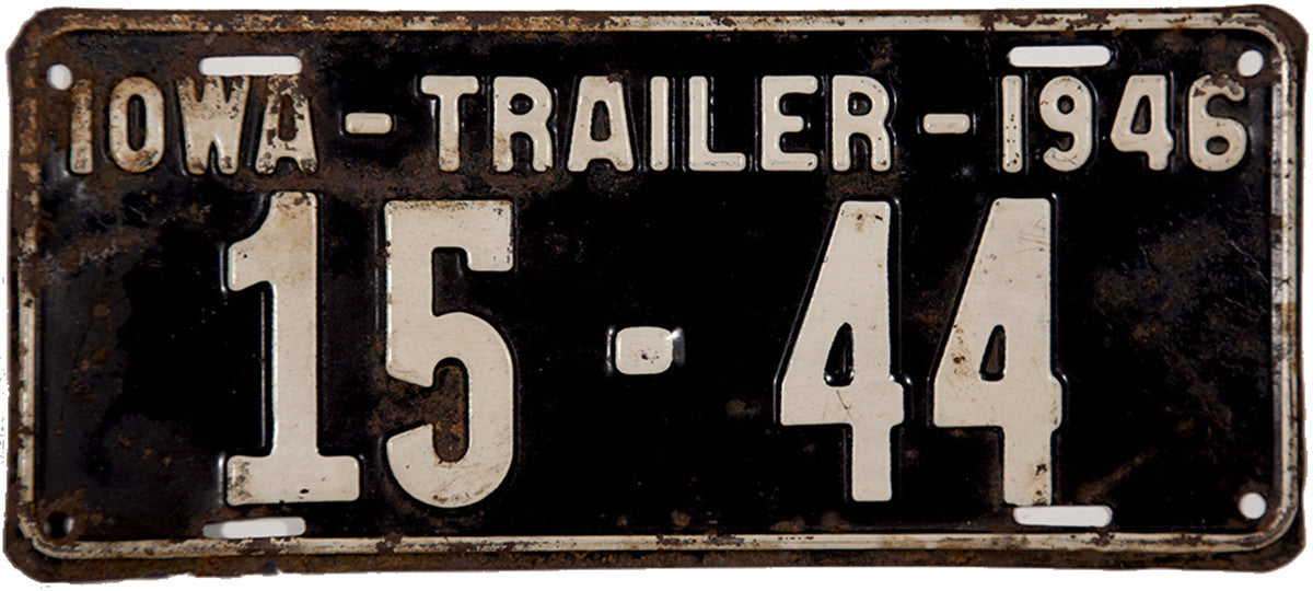 1946 Iowa Trailer License Plate