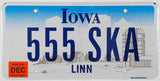 2006 Iowa scenic car license plate with Farm