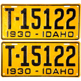 1930 Idaho Truck License Plates