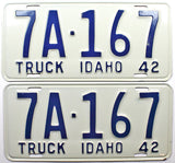 1942 Idaho Private Truck License Plates