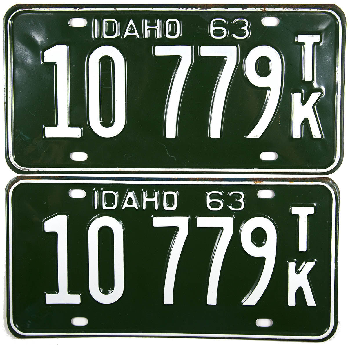 1963 Idaho Truck License Plates