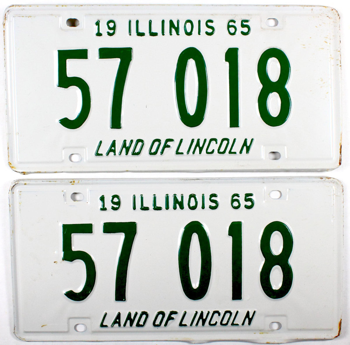 1965 Illinois License Plates