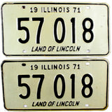 1971 Illinois License Plates