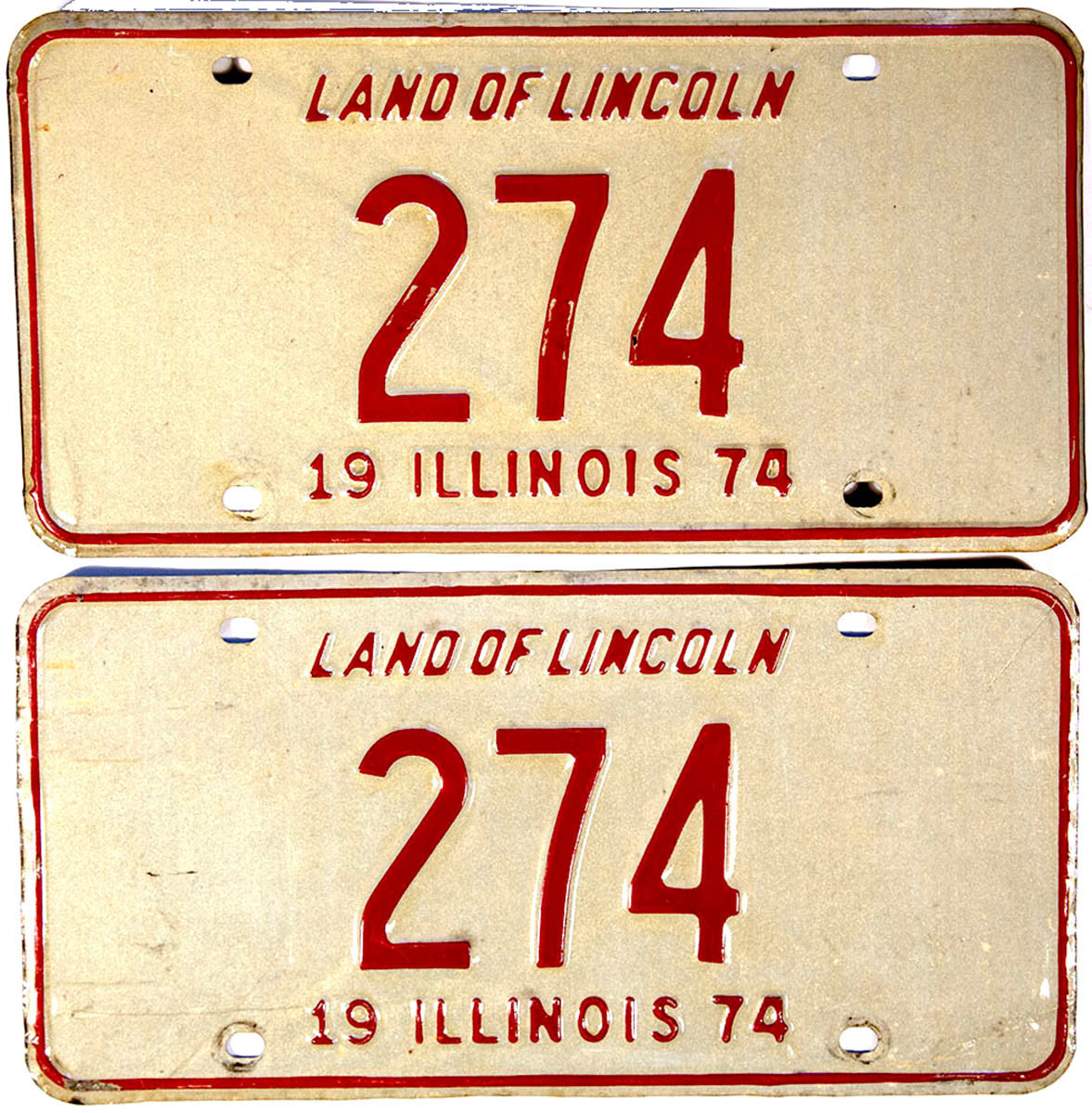1974 Illinois License Plates