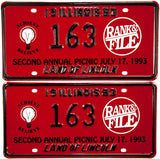 1993 Rank and File Picnic License Plates