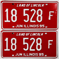 1995 Illinois Truck License Plates