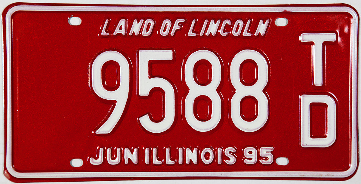 A NOS 1995 Illinois Trailer License Plate