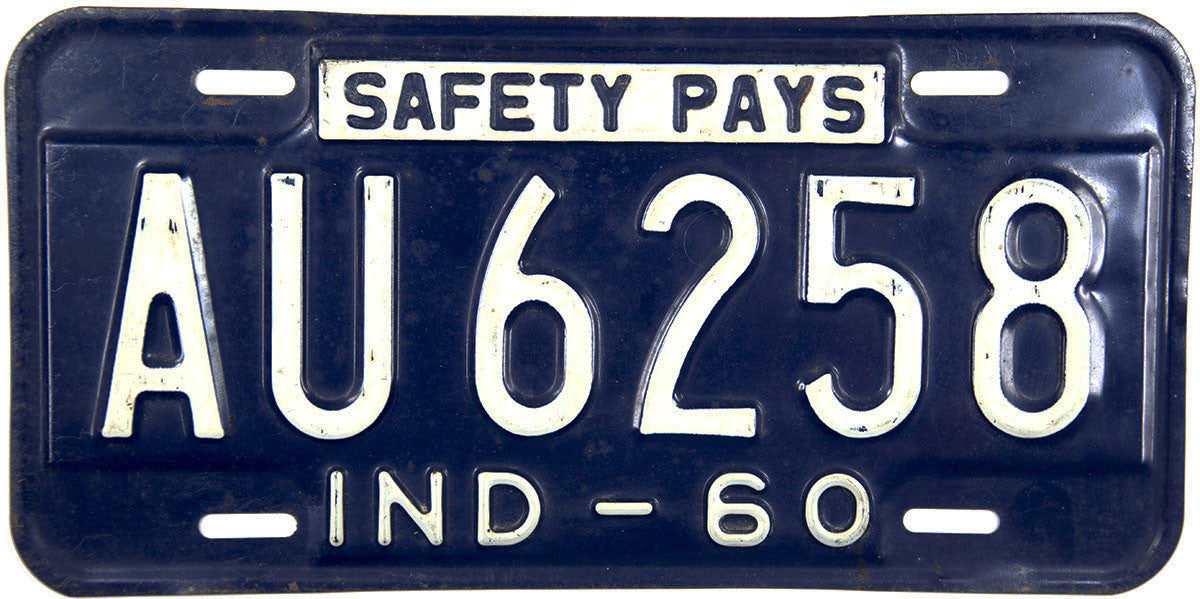 1960 Indiana License Plate