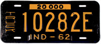 1962 Indiana Truck License Plate