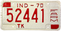 1970 Indiana Farm Truck License Plate