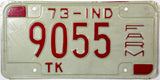 1973 Indiana Farm Truck License Plate