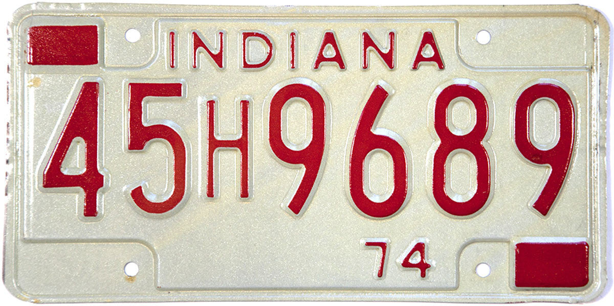 1974 Indiana License Plate