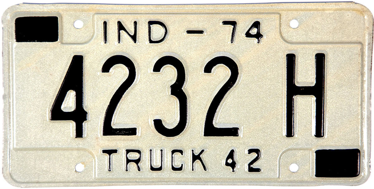 1974 Indiana Truck License Plate