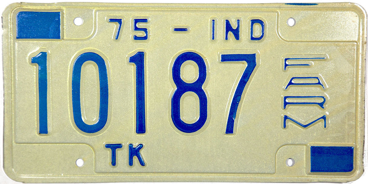 1975 Indiana Farm Truck License Plate