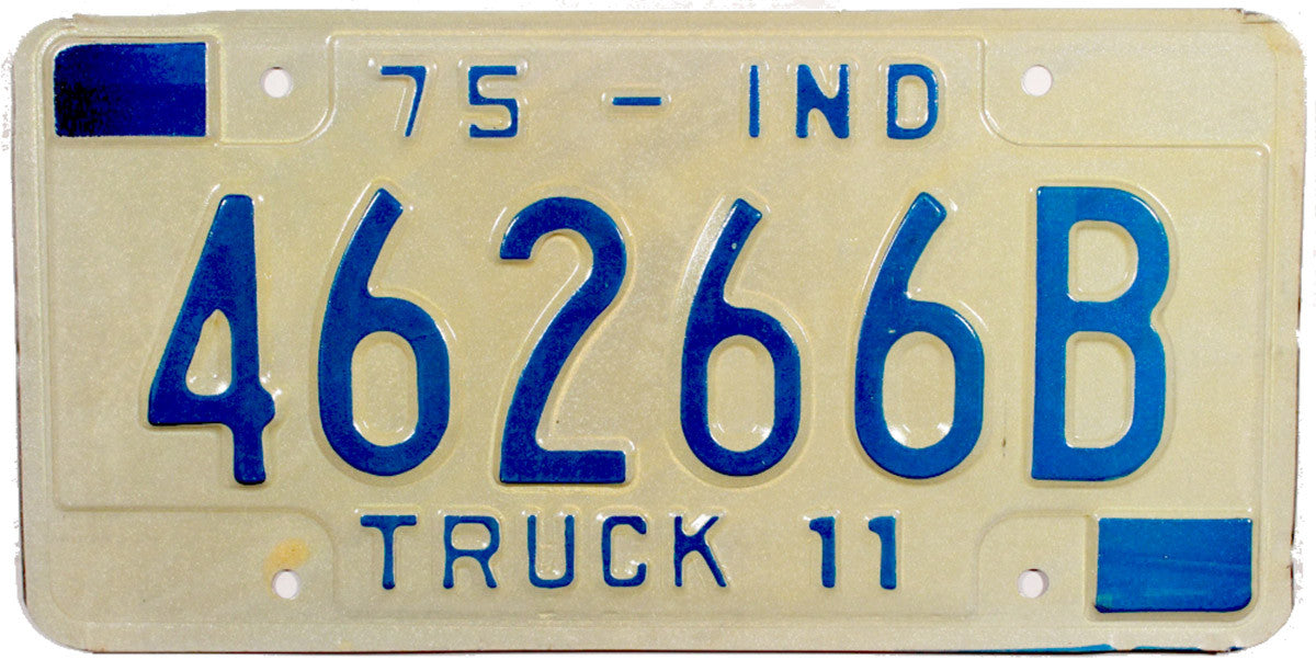1975 Indiana Truck License Plate