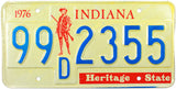 1976 Indiana Bicentennial License Plate
